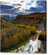 Autumn On The Genesee Canvas Print