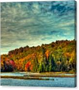Autumn On The Moose River In Thendara Canvas Print