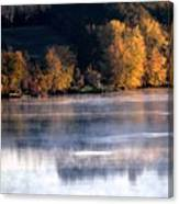 Autumn On Wisconsin River Canvas Print
