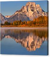 Autumn Oxbow Bend Reflections Canvas Print