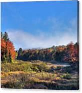 Autumn Panorama At The Green Bridge Canvas Print