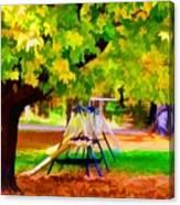 Autumn Playground 1 Canvas Print