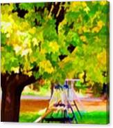 Autumn Playground Canvas Print