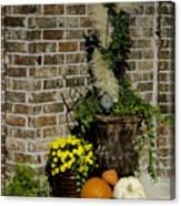 Autumn Porch Scene Canvas Print