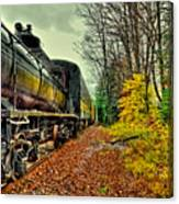 Autumn Railway Canvas Print