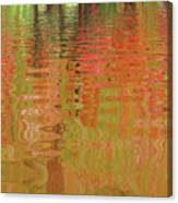 Autumn Reflections Abstract Canvas Print