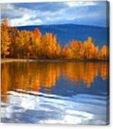 Autumn Reflections At Sunoka Canvas Print