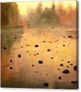 Autumn River Fog Canvas Print