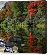 Autumn River Landscape Canvas Print