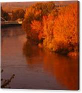 Autumn River Canvas Print