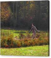 Autumn Scarecrow Canvas Print