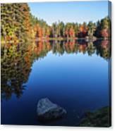 Autumn Serenity In Maine Usa Canvas Print