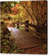 Autumn Splendor Bridge Canvas Print