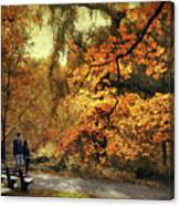Autumn Splendor Promenade Canvas Print