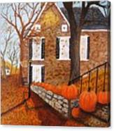 Autumn Stone House Canvas Print