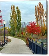 Autumn Stroll In The Park Canvas Print