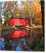Autumn Sunrise Bridge II Canvas Print