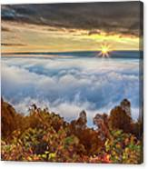 Autumn Sunrise On Cloud Tops Canvas Print