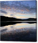 Autumn Sunset, Ladybower Reservoir Derwent Valley Derbyshire Canvas Print