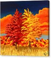 Autumn Twins Canvas Print