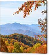 Autumn View Of The Smokies Canvas Print