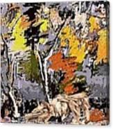 Autumn Walk 1 Canvas Print