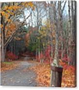 Autumn Walk At West Thompson Lake  Canvas Print
