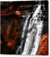 Autumn Waterfall 3 Canvas Print