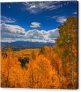 Autumn Wildfire At Ohio Pass Canvas Print