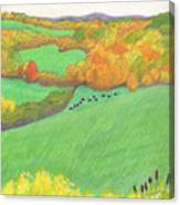 Autumn With Purple Angus Canvas Print