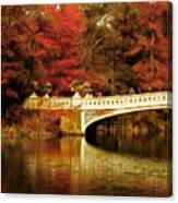 Autumnal Bow Bridge  Canvas Print