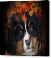 Autumn's Pup Canvas Print