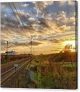 Autumn's Sunset Canvas Print