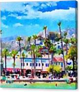 Avalon Waterfront, Catalina Canvas Print
