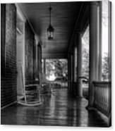 Avenel Front Porch - Bw Canvas Print