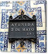 Avenida 5 De Mayo Canvas Print