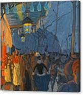 Avenue De Clichy. Five O'clock In The Evening Canvas Print
