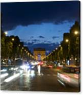 Avenue Des Champs Elysees. Paris Canvas Print