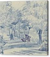 Avenue In A Park Arles, May 1888 Vincent Van Gogh 1853 - 1890 Canvas Print