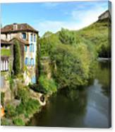 Aveyron River In Saint-antonin-noble-val Canvas Print