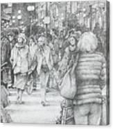 Avignon Shoppers Canvas Print