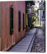 Aviles Street The Oldest Street In The Usa Canvas Print