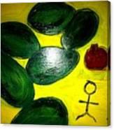 Avocado Man Canvas Print