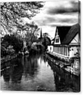 Avon Boathouse Canvas Print