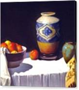 Awaiting Vases With Fruit Canvas Print