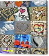 Awesome Hearts - Collage Canvas Print