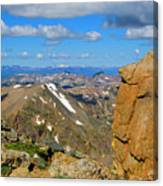 Awesome View From The Mount Massive Summit Canvas Print