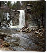Awosting Falls In January #2 Canvas Print