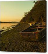 Axe Estuary Boat  Canvas Print