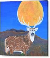 Axis Moon Canvas Print